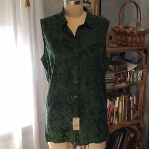 Brooks Brothers silk sleeveless blouse